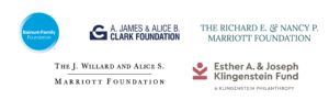 Bainum Family Foundation, A. James & Alice B. Clark Foundation, Esther A. and Joseph Klingenstein Fund, The J. Willard and Alice S. Marriott Foundation, Richard E. & Nancy P. Marriott Foundation